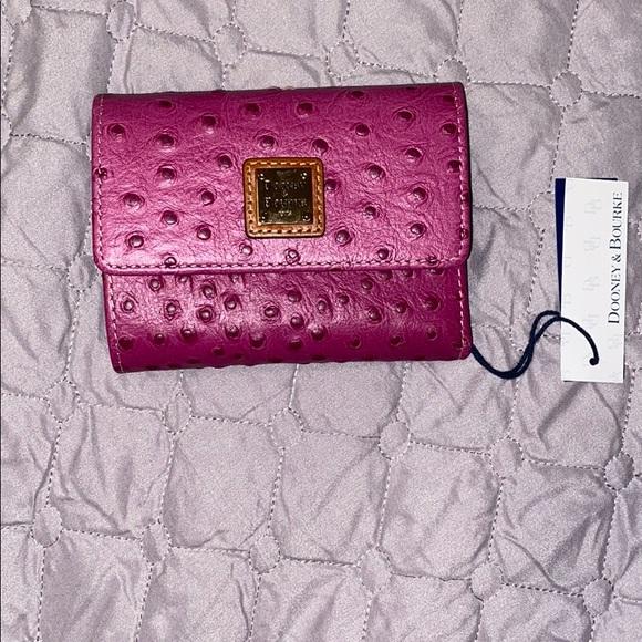 Dooney & Bourke Leather Flap Wallet & coin holder